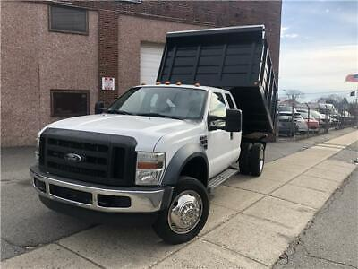 2008 FORD F550 Dump Truck XL 93,220 Miles WHITE Extended Cab Chassis-Cab Diesel