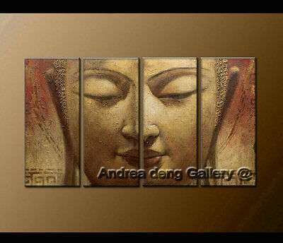 Wall Art Modern Abstract Oil Painting Hand Painted Buddha Canvas Framed A1387