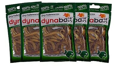 2kg wet weight, equals 60 small Dynabait satchels Dynabait Sand worms 1Kg x 2