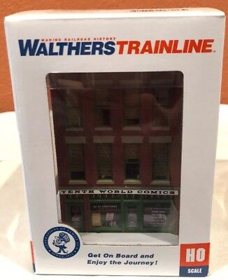 HO SCALE WALTHERS TRAINLINE #931-812 MIDTOWN HARDWARE ASSEMBLED /& DECORATED NEW