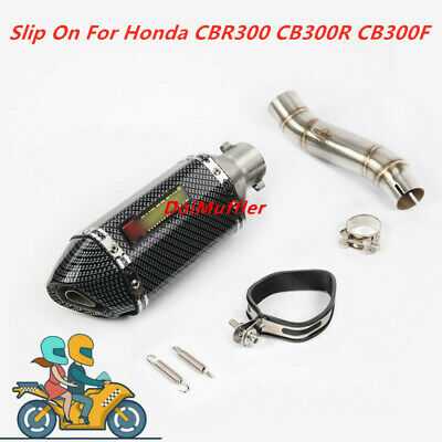 For Honda CBR300 CB300R CB300F Slip On Exhaust System Muffler Pipe Middle Pipe