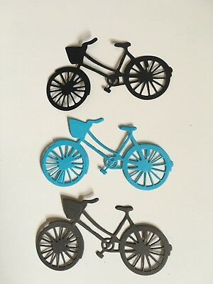 6 Bicycle Die CuTS Black CARD MAKING,EMBELLISHMENTS,BIRTHDAY,TOPPERS
