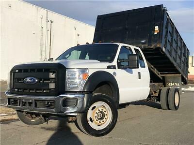 2011 FORD F550 dump truck  126,700 Miles white   Automatic