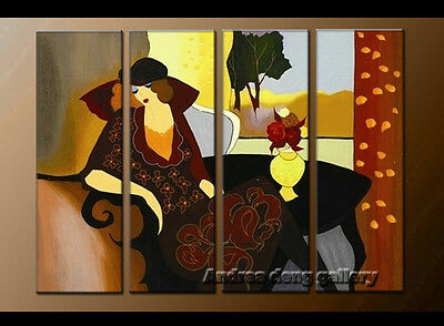 Modern Itzchak Tarkay Oil Painting Repro Living Room Wall art Dawning Thoughts 3