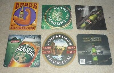 Collectable beer coasters: Set of 6 assorted Boags beer coasters