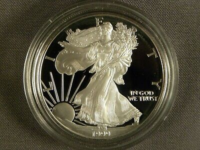 1999 American Eagle Silver Dollar One Troy Ounce .999 Silver US Coin Bullion