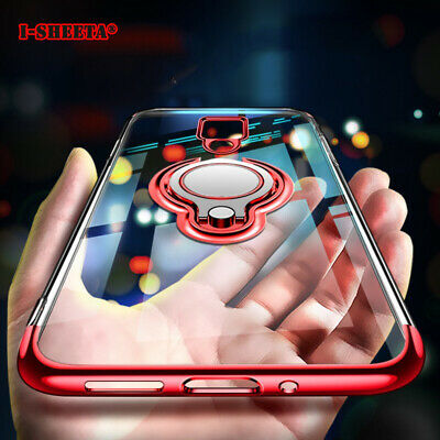 Case For Samsung S10 Plus S10e S9 S8 Magnetic Shockproof Ring Holder Clear Cover
