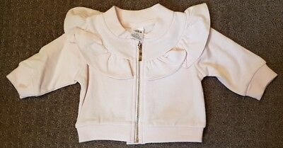 Baby Baby Pink Baby Girls Long Sleeve Zip Up Top Size 00 BNWT