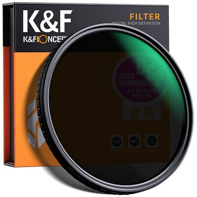 K&F Concept 62mm Fader Variable ND Filter Without Cross Neutral Density ND2-ND32