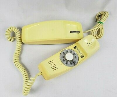 Vintage GTE Automatic Electric Trim Line Telephone Rotary Dial Cream Phone 1970s