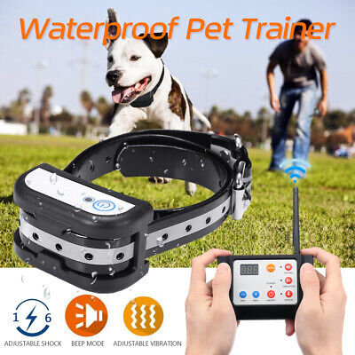 2 IN 1 Wireless Electric Dog Pet Fence System Waterproof Training Bark Collar