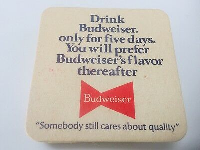 New Old Stock Vintage Antique Budweiser Anheuser-Busch BOWTIE LOT of 23 Coasters