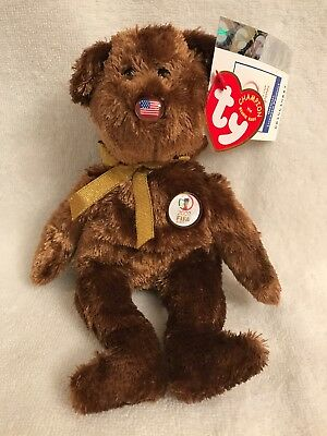 TY BEANIE BABY CHAMPION (USA) the Bear Fifa World Cup Soccer RETIRED ... 42bac2a8e0a0