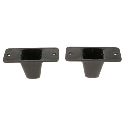 MagiDeal Replacement Part Plastic Luggage Side Stud Foot Feet Pad Black