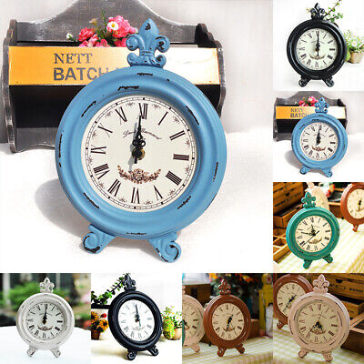 Retro Wooden Clock Vintage Table Home Decoration Six Color Cute Lovely Fashion