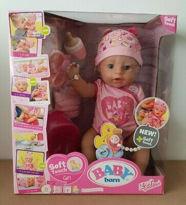BNIB Baby Born Soft Touch Interactive Girl Doll Zapf Light Pink