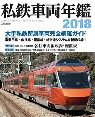 Ikaros Publishing Japon Private Railways Annual 2018 Nouveau Livre de Japon