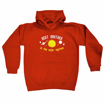 Funny Kids Childrens Hoodie Hoody - Best Brother In The Solar System