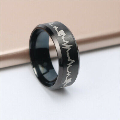 Lord of the Rings The One Ring Power Band 6mm Unisex Stainless Steel Size 6-12