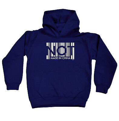 Funny Kids Childrens Hoodie Hoody - Not Made In China