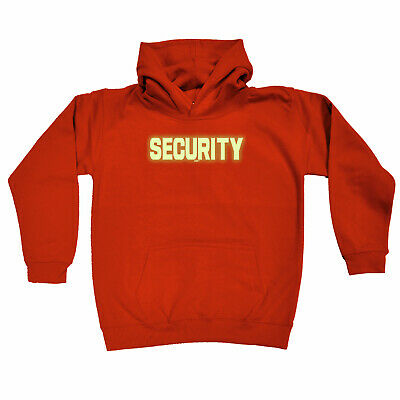 Funny Kids Childrens Hoodie Hoody - Security Glow In The Dark