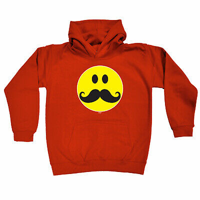 Funny Kids Childrens Hoodie Hoody - Moustache Smile
