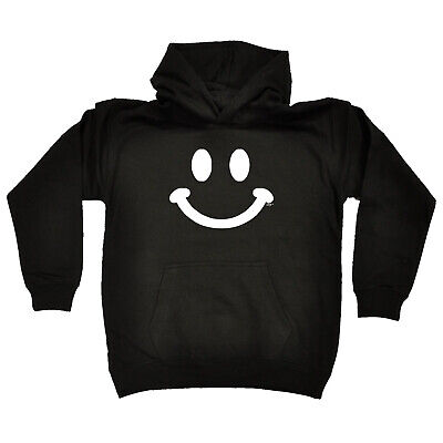 Funny Kids Childrens Hoodie Hoody - Smiling Face