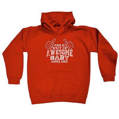 Funny Kids Childrens Hoodie Hoody - This Is What An Awesome Baby Looks Like