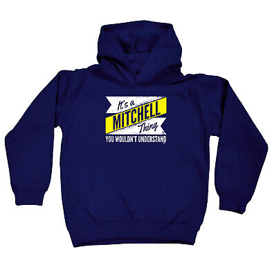 Funny Kids Childrens Hoodie Hoody - V2 Mitchell Thing Surname