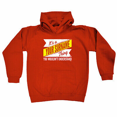Funny Kids Childrens Hoodie Hoody - V2 Your Surname Thing
