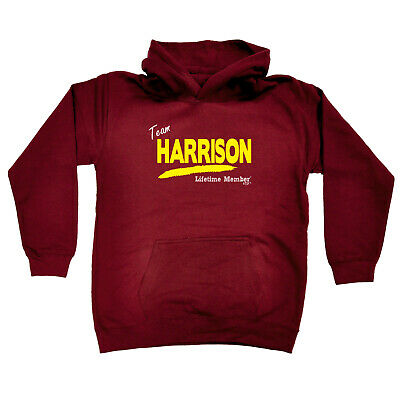 Funny Kids Childrens Hoodie Hoody - Team Lifetime Member Harrison V1