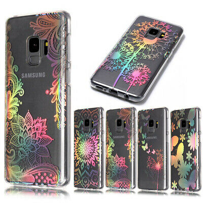 Samsung Galaxy S10 Plus S10e S9 Case Mandala Henna Pattern Clear TPU Soft Cover