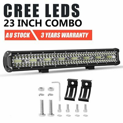 23 inch CREE LED Light Bar Spot Flood Driving Lamp Offroad 4WD Truck SUV ATV UTE