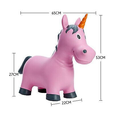 (A Pink Unicorn) - Babe Fairy Bouncy Horse,Horse Hopper Ride-on Toddlers Toys