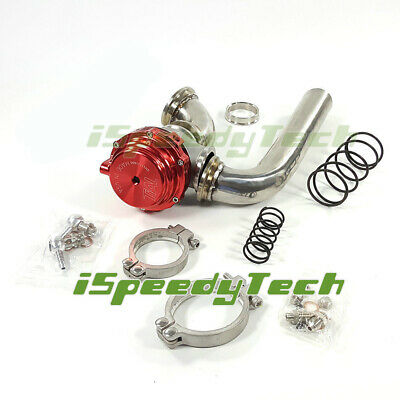 Ispeedytech 2 Pcs Dump Tube Pipe Elbow SS304 Adaptor for Tial MVR44 44mm Wastegate Actuator