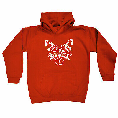 Funny Kids Childrens Hoodie Hoody - Cat Face