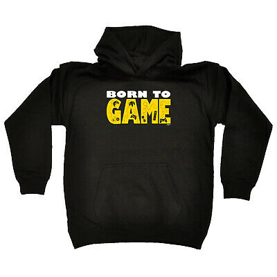 Funny Kids Childrens Hoodie Hoody - Born To Game