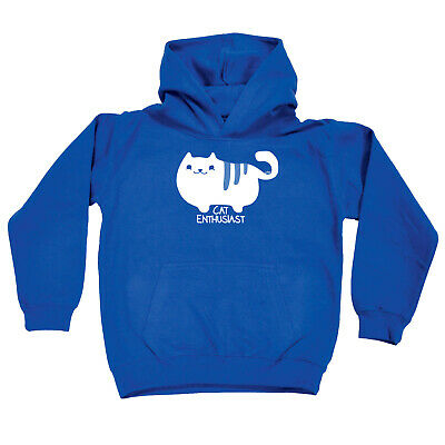 Funny Kids Childrens Hoodie Hoody - Cat Enthusiast