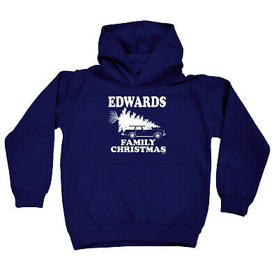 Funny Kids Childrens Hoodie Hoody - Family Christmas Edwards Surname