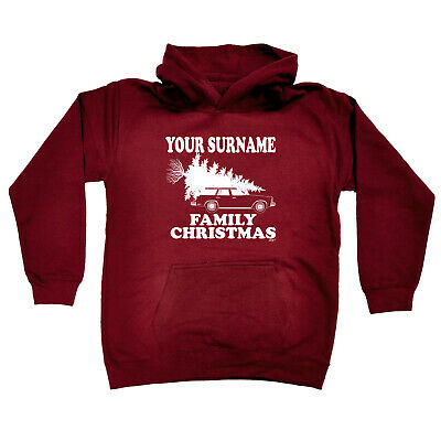 Funny Kids Childrens Hoodie Hoody - Family Christmas Your Surname