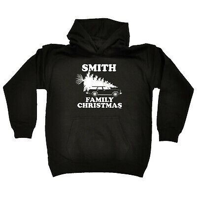Funny Kids Childrens Hoodie Hoody - Family Christmas Smith Surname