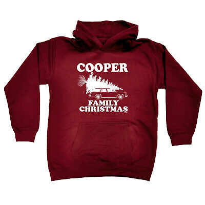 Funny Kids Childrens Hoodie Hoody - Family Christmas Cooper Surname