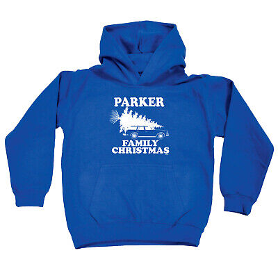 Funny Kids Childrens Hoodie Hoody - Family Christmas Parker Surname