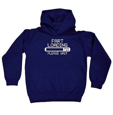 Funny Kids Childrens Hoodie Hoody - Fart Loading