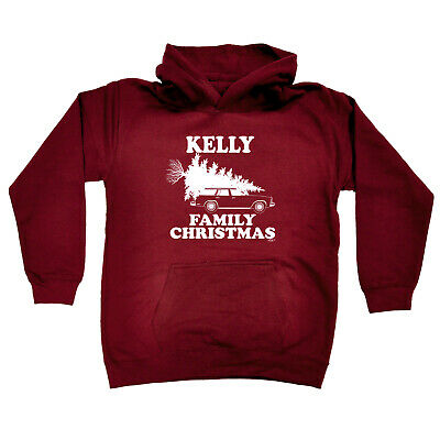 Funny Kids Childrens Hoodie Hoody - Family Christmas Kelly Surname