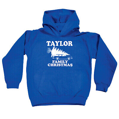 Funny Kids Childrens Hoodie Hoody - Family Christmas Taylor Surname
