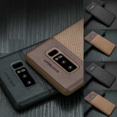 Galaxy S10+ S10 Plus S9 S8 Luxury Leather PU Leather Back Phone Case for Samsung