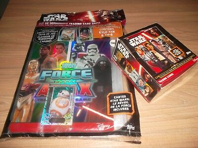 Kit Demarrage Album Star Wars + Boite 49 Boosters Cards Topps Disney Cartes