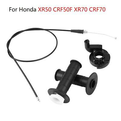 """HANDLE BAR GRIPS THROTTLE TUBE KIT 7//8/"""" CLAMP AND CABLE FITS HONDA CRF50 XR50"""