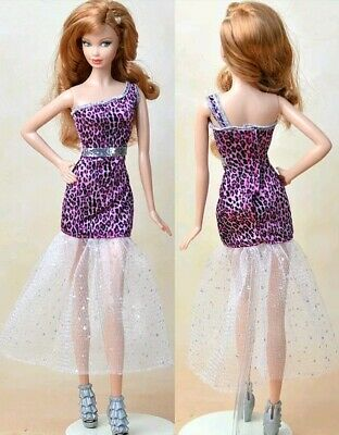 New Barbie doll clothes fashion outfit dress good quality animal print au seller